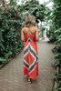 Sahara Sunset Surplice Boho Printed Maxi - Red Multi