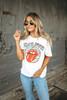 Daydreamer Rolling Stones Clouds & Stars Boyfriend Tee - White