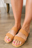Seaside Cafe Scalloped Sandals - Tan