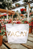 Vacay Essential Metallic Tote - White/Gold