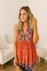 Free People Charlotte Printed Tank - Burnt Orange - FINAL SALE