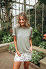 Free People Cassidy Tee - Army