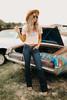 Strictly Business Flare Jeans - Dark Wash - FINAL SALE