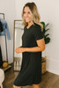 Caribbean Cove Pocket T-Shirt Dress - Black