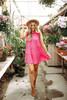 Bahama Mama Tiered Babydoll Dress - Fuchsia