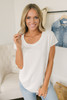 Everly Soft Terry Curved Hem Top - Ivory