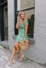 Sadie & Sage Ruffle Floral Dress - Green Multi  - FINAL SALE