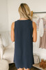 Southern Classic Scalloped Shift Dress - Navy - FINAL SALE