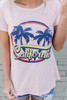 California Palms Graphic Tee - Pink Multi - FINAL SALE