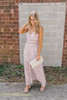Island Romance Button Down Floral Maxi - Light Rose
