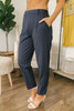 Business Class Pinstriped Pants - Navy/White - FINAL SALE