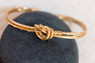 Twisted Knot Textured Bracelet - Gold