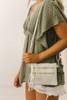 Zipper Detail Wallet Crossbody - White