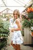 BB Dakota Turn Up the Heat Eyelet Dress - Optic White- FINAL SALE