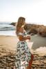 High Low Ruffle Pineapple Skirt - Ivory Multi