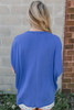 V-Neck Dolman Pocket Tee - Royal Blue