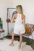 First Love Surplice Lace Romper - White