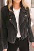 Sadie & Sage Mila Washed Corduroy Jacket - Black