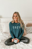 Sadie & Sage Cozy Graphic Top - Forest Green