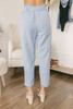 Everly Paperbag Linen Pants - Chambray Blue