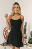 Everly Ruffle Detail Flare Dress - Black- FINAL SALE