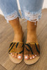 Coconuts by Matisse: Cabana Tiger Slides - Brown Multi