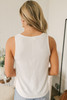 Everly Soft Terry Knot Tank - Ivory