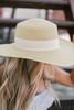 Seaside Boater Hat - Natural/Dark Natural