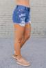 Shore Thing Distressed Denim Shorts - Medium Wash
