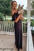 Cold Shoulder Ruffle Soft Knit Maxi - Black  - FINAL SALE