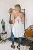 V-Neck Tiered Babydoll Tunic Dress - Ivory - FINAL SALE