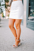 Sadie & Sage Parker Denim Skirt - White