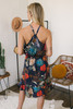 Wanderlux Samba Halter Dress - Blue Multi Blossom - FINAL SALE