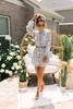 Wanderlux Jean Dress - Silver Floral