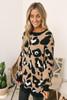 Leopard Pocket Sweater Tunic - Mocha Multi