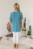 V-Neck High Low Modal Tee - Teal - FINAL SALE