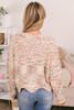 Confetti Scalloped Sweater - Peach Multi