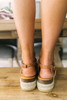 Isle of Palms Strappy Espadrille Sandals - Tan