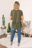 Short Sleeve Knit Peplum Top - Olive - FINAL SALE