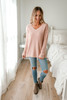 V-Neck Soft Sweater - Blush - FINAL SALE