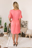 Ruffle Sleeve Button Detail Babydoll Dress - Coral- FINAL SALE