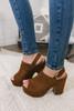 Chinese Laundry Bella Platform Sandals - Cognac - FINAL SALE
