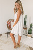 Square Neck Eyelet Tent Dress - White