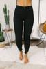Palo Alto Frayed Ankle Skinny Jeans - Black