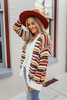 Vienna Abstract Striped Cardigan - Ivory Multi