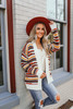 Vienna Abstract Striped Cardigan - Ivory Multi  - FINAL SALE