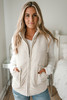 Alpine Lodge Ribbed Plush Vest - Ivory
