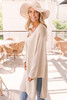 Wide Sleeve Button Down Cardigan - Natural  - FINAL SALE