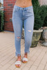 Free People Great Heights Frayed Skinny Jeans - Turquoise Wash - FINAL SALE