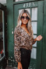BB Dakota Ride or Tie Leopard Bodysuit - Brown